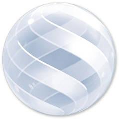 "Шар 22""/56см Bubble Deco стеклянный спираль (Qualatex)"