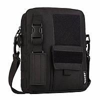 Тактическая сумка на плечо (черная)