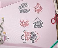 Аплпикации на портфели Карты (Стекло,3мм-красн.,3мм-черн.)