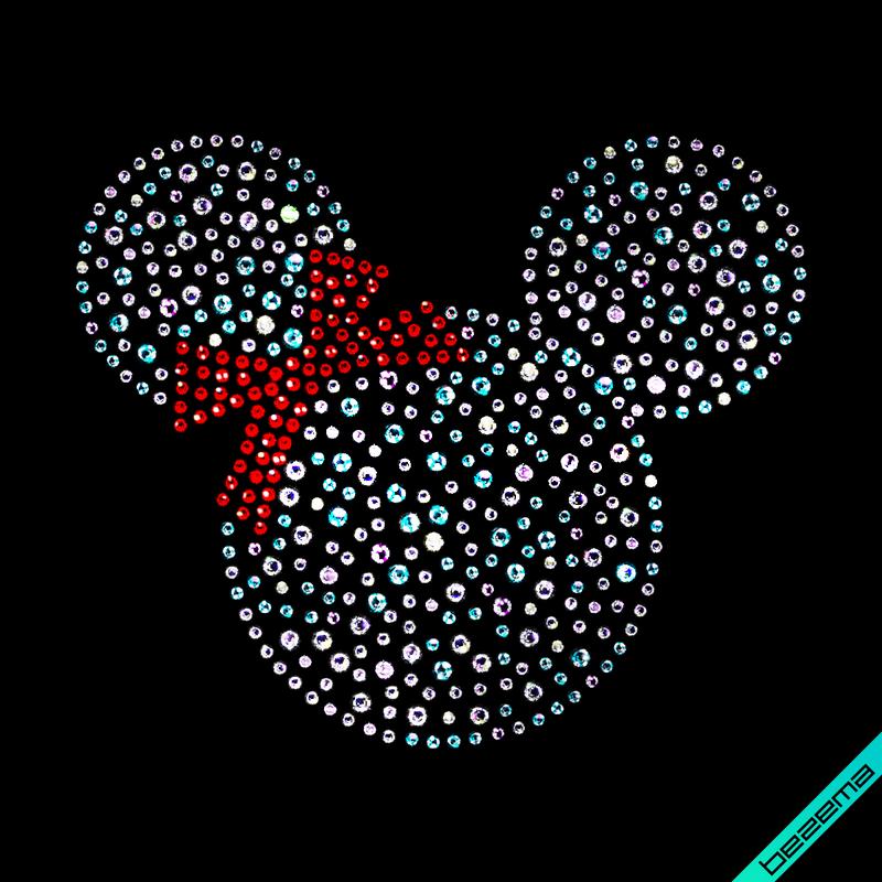Переносити на чоботи термо Mickey Mouse (Скло,2мм-червон.,2мм-бенз.,3мм-бенз.)