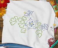 Аппликации для бизнеса на текстиль для дома Цветок  (Стекло,3мм-жел.,2мм-бел.,2мм-син.,3мм-эмер.)