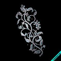 Термоперевод на постельное белье Цветок (Стекло, 4мм-бенз., 2мм-аквам., 3мм-бел.)