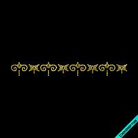 Наклейки на кюлоты Полоса (Стекло,2мм-жел.)