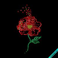 Термоперевод на костюмы Цветок (Стекло, 2мм-жел., 2мм-эмер., 2мм-красн.)