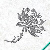Термопереводки на полотенца Цветок (Стекло,2мм-черн.)