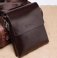 f1239077dde2 Стильная мужская сумка Polo. Несколько размеров. Коричневый 26 22 4 см