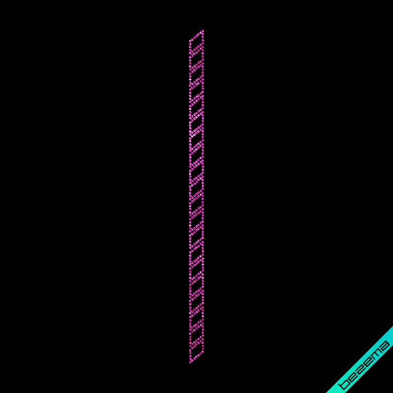 Аплпикации на півчобітки Смуга (Скло,3мм-роз.)