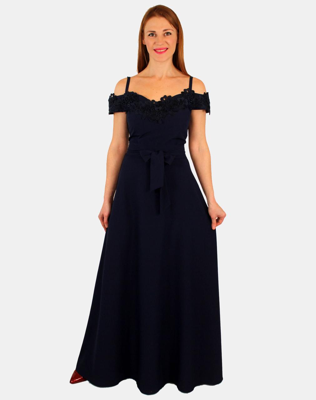 Платье макси на тонких бретельках 44 р