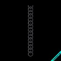 Наклейки из страз на топы Узор (Стекло, 3мм-бел.)