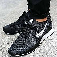 Мужские кроссовки Nike Air Zoom Mariah Flyknit Racer Black-White (Реплика)