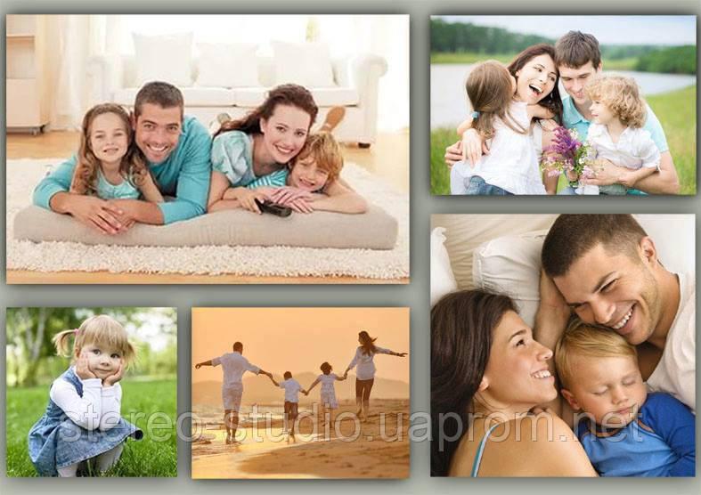 Семейные фотографии на холсте
