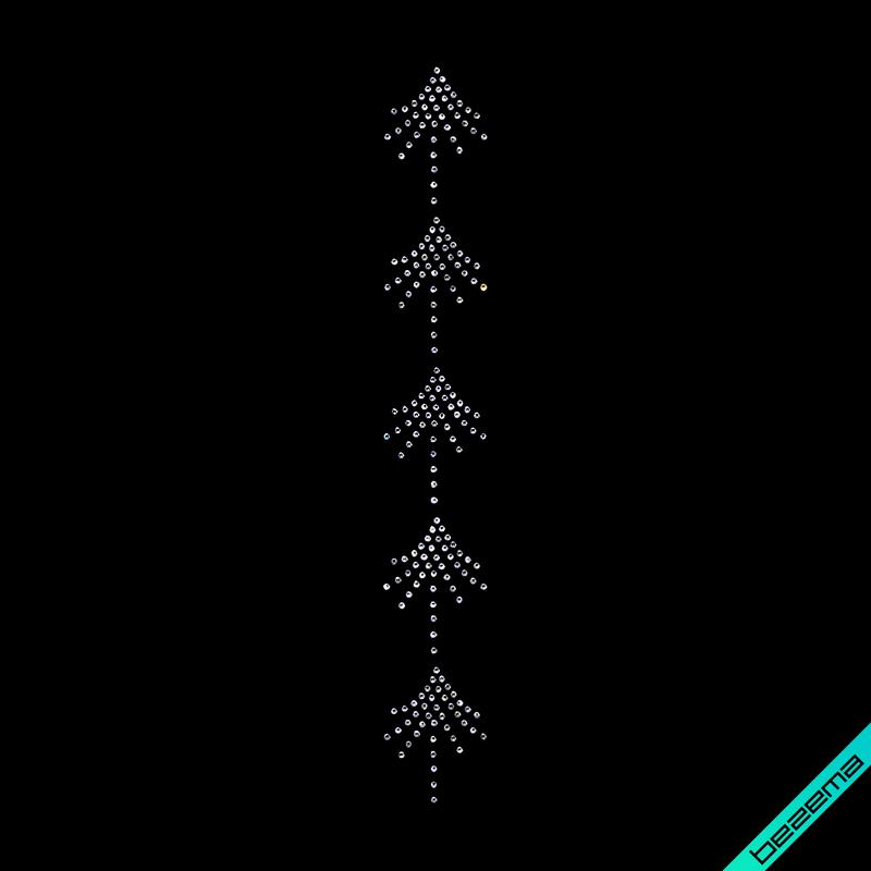 Переводки на изделия из ткани термо Узор (Стекло, 3мм-бел.)