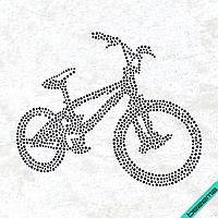 Термоаппликации на сумки Велосипед (Стекло,4мм-черн.,3мм-черн.)