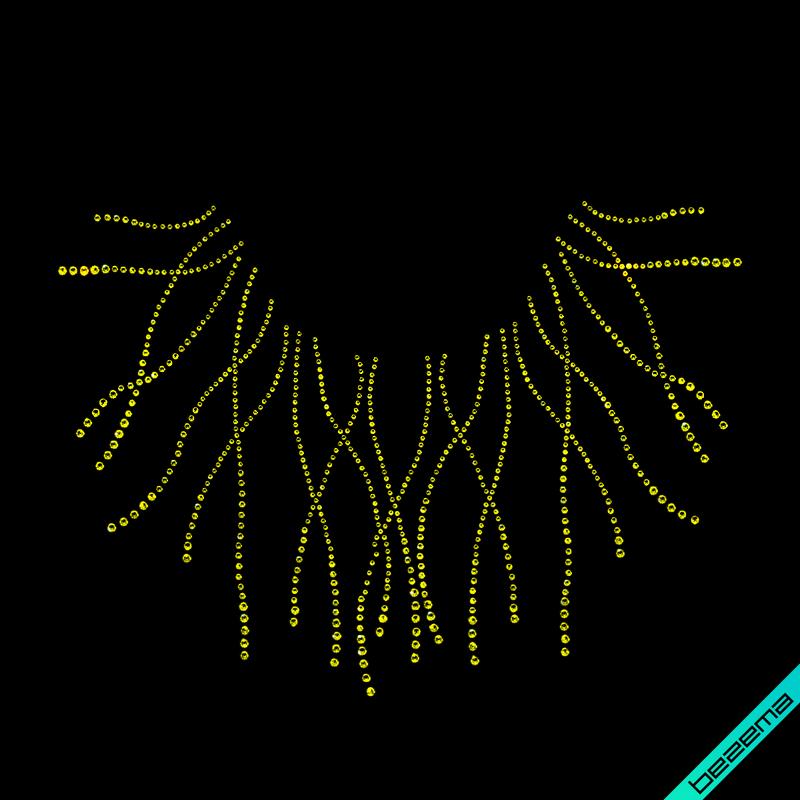 Термотрансфери на підв'язки Кольє (Скло, 2мм-н., 3мм-н., 4мм-жел.)