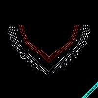 Термоаппликации зі страз на халати Кольє (Скло,3мм-біл.,3мм-червон.,4мм-бенз.)