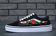 Кеды Vans Old Skool Roses Patch Black