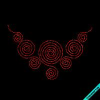 Термотрансферы на одежду для беременных Колье  (Стекло, 3мм-красн.)
