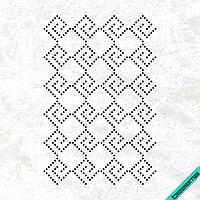 Рисунки из страз на гетры Узор (Стекло,3мм-чёрн.)