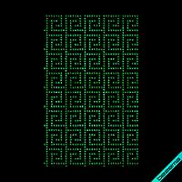 Термопринт на кроссовки Узор (Стекло,3мм-эмер.), фото 1