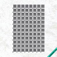 Картинки из страз на ремни Узор (Стекло,3мм-чёрн.)