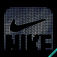 Наклейки на сумки Логотип (Стекло,4мм-сапф.)
