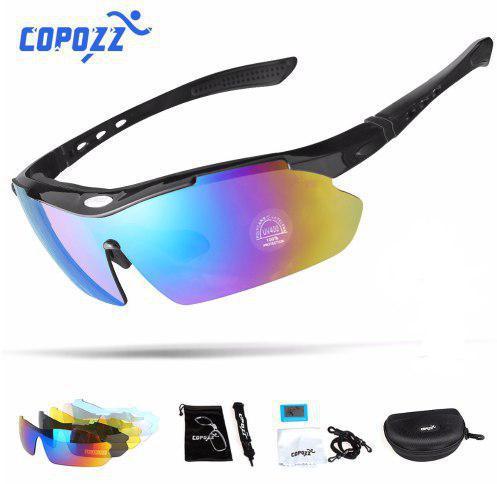 Очки для велоспорта COPOZZ GOG-1050 Polarized 5 сменных линз