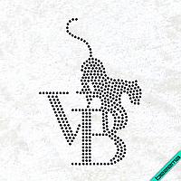 Термотрансфер на дорожні сумки Логотип (Скло,2мм-черн.)