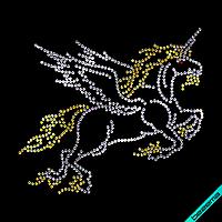 Термопереводки на ремни Лошадь (Стекло, 3мм-зол., 3мм-бел.)