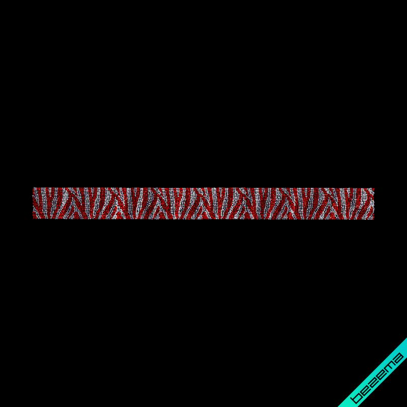 Дизайн на дорожные сумки Зебра (Стекло, 3мм-бел., 3мм-красн.)