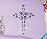 Термоаппликации на полусапожки Логотип (Стекло,2мм-син.,3мм-дайм.)