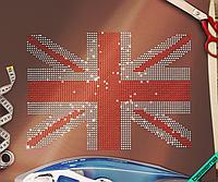 Термоаппликации из страз на ветровки Флаг (Стекло,3мм-красн.,3мм-бел.)