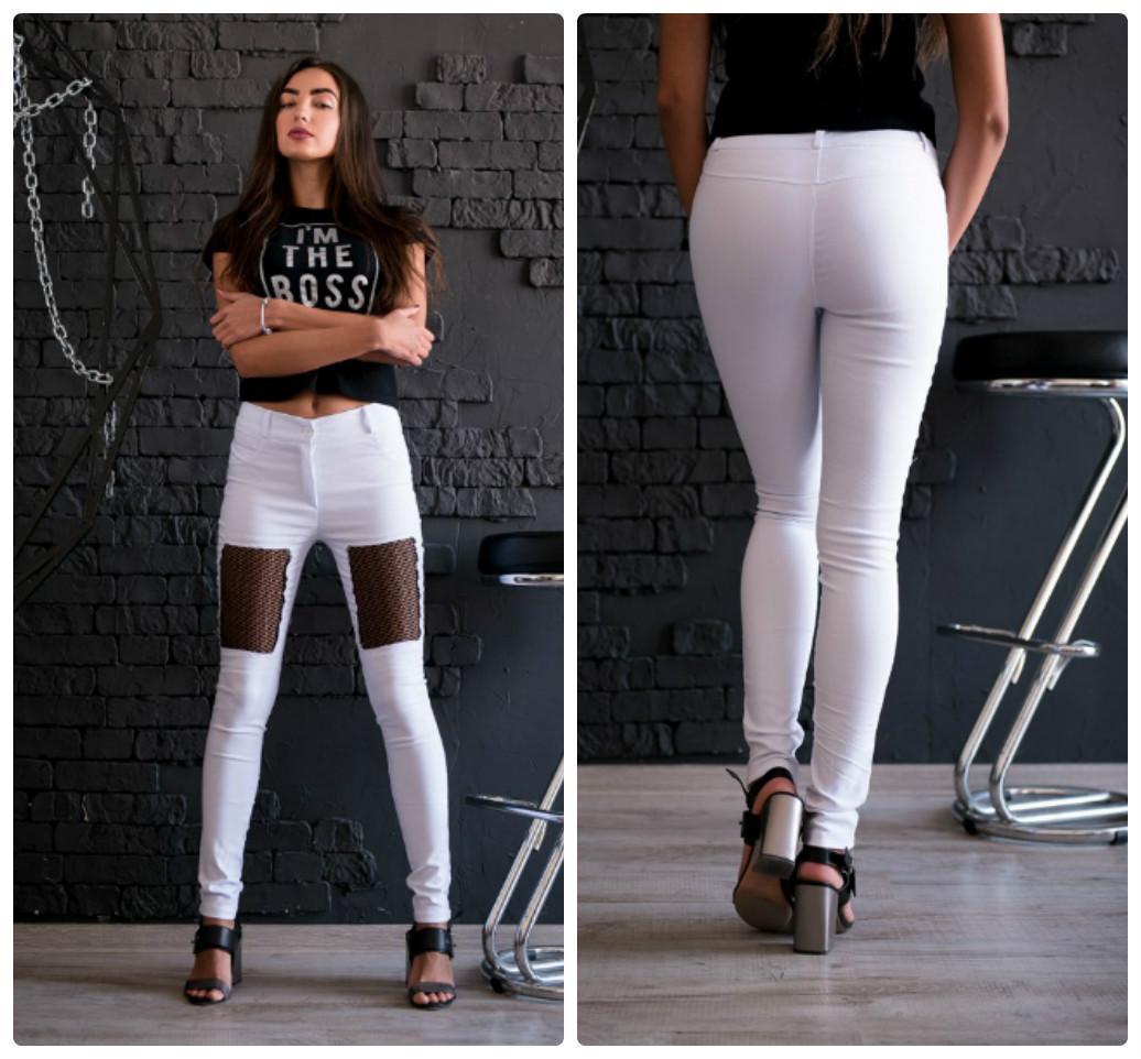 ef0fa342e90 Женские стильные джинсы с вставкой из сетки. 5 цветов!  продажа ...