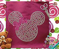 Термопереводки, латки на футболки Mickey Mouse  (Стекло,2мм-бенз.,2мм-роз.)