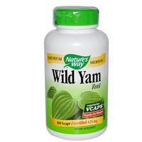 Wild Yam Дикий ямс 100 капс 425 мг для гормонального баланса у женщин, при климаксе от приливовNature's WayUSA