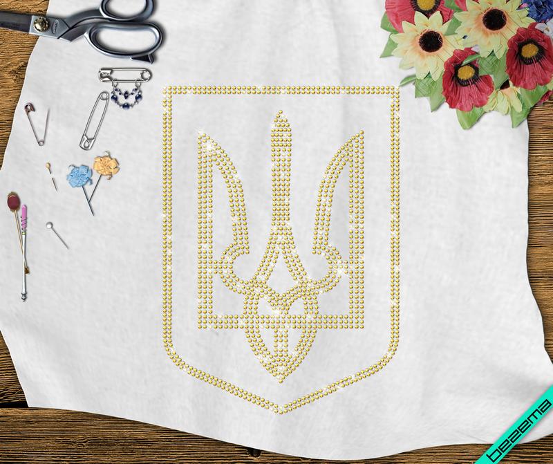 Дизайн на пончо Герб Украины (Стекло,2мм-жел.)