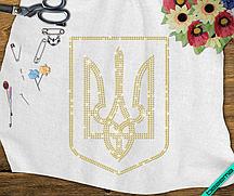 Дизайн для бизнеса на пончо Герб Украины  (Стекло,2мм-жел.)