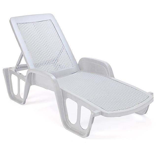 Пляжный лежак «Pool» белый