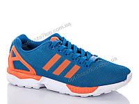 Кроссовки мужские SportLine Adidas zx flux orange-blue (41-45) - купить оптом на 7км в одессе