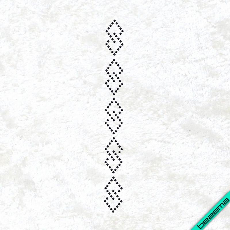 Дизайн из страз Узор (Стекло, 2мм-черн.)