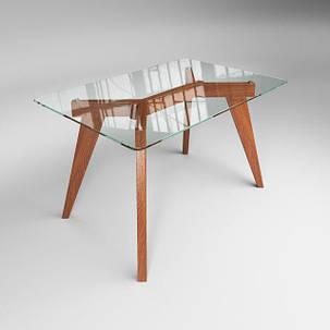 Стол обеденный стеклянный Леонардо Прозрачный (Sentenzo TM), фото 2