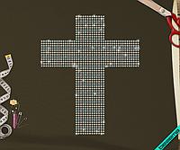 Аплпикации на полупальто Крест (Стекло,3мм-бенз.)
