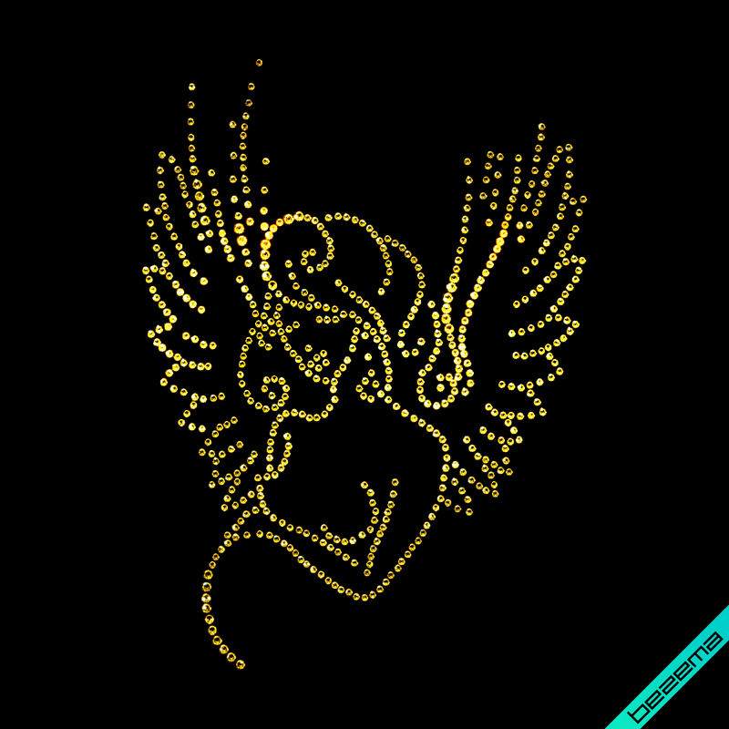 Термопереводки на сабо Беременная Девушка (Стекло, 3мм-зол., 2мм-зол.)