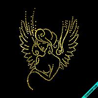 Термопереводки на сабо Беременная Девушка (Стекло, 3мм-зол., 2мм-зол.), фото 1
