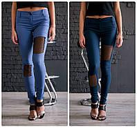 Женские молодежные джинсы-дудочки с молнией сзади. 5 цветов!, фото 1