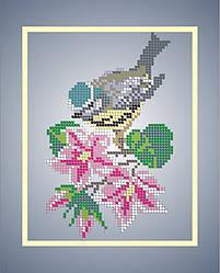 Схема для вышивки / вышивания бисером «Синичка» (A4) 20x25