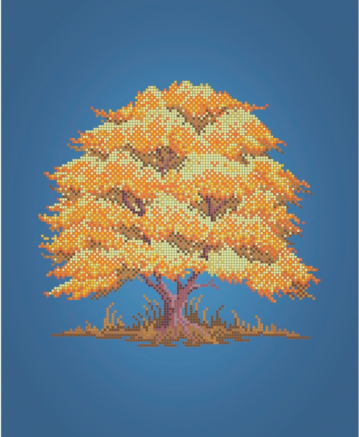 Схема для вышивки / вышивания бисером «Дерево Осінь» (A3) 30x40