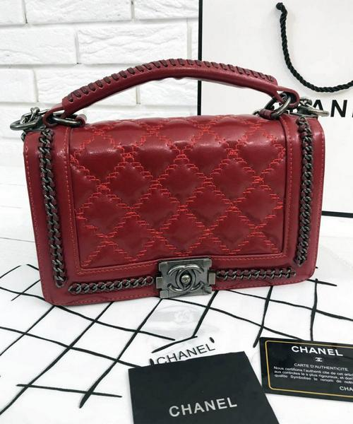 Женская сумка CHANEL Le Boy Flap With Top Handle (9584)  продажа ... c7ce6c56ed2