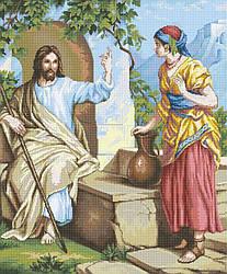 Схема для вышивки / вышивания бисером «Ісус и самаритянка» (A1) 60x80