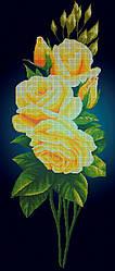 Схема для вышивки / вышивания бисером «Жовта троянда на синьому фоні» (40x100)