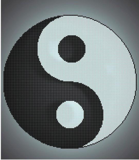 Схема для вышивки / вышивания бисером «Инь-янь» (40x45)